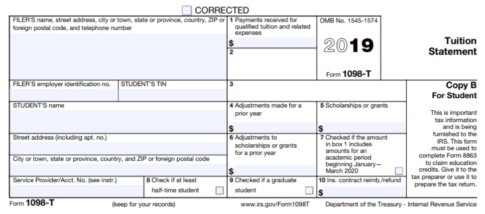 Form Tuition Statement 2019